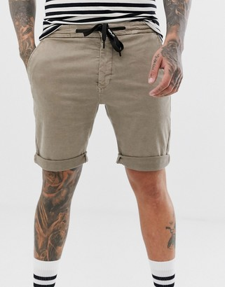 Replay Hyperflex chino shorts in stone