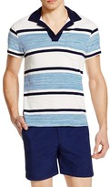 Orlebar Brown Terry Melange Stripe Regular Fit Polo Shirt