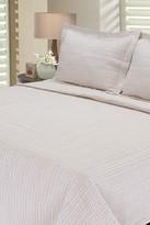 Melange Home Seersucker Stripe Quilt Set - Cafe Au Lait