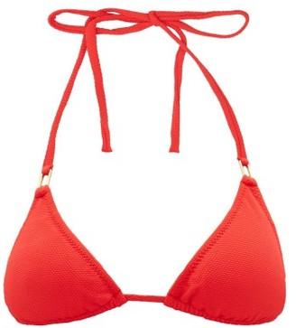 Melissa Odabash Cancun Pebbled Triangle Bikini Top - Womens - Red