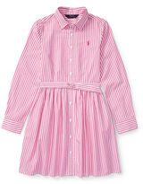 Ralph Lauren 7-16 Striped Cotton Shirtdress