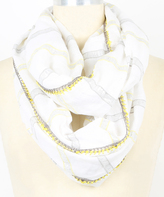 Betsey Johnson Gray & Yellow Met Stripe Infinity Scarf