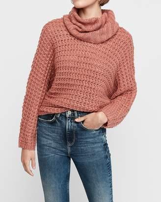 Express Oversized Cowl Neck Knit Dolman Sweater
