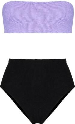 Hunza G Duo Edie two-tone bikini set