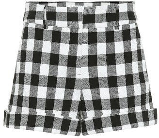 Veronica Beard Carito checked cotton shorts