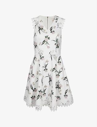 Ted Baker Nolla floral-print stretch-crepe dress