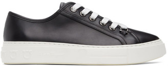 Salvatore Ferragamo Black and White Anson Borg Sneakers