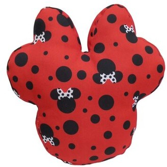 Disney Minnie Shaped Polka Dots Indoor/Outdoor Throw Pillow