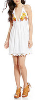 Free People Love And Flowers Embroidered Mini Dress