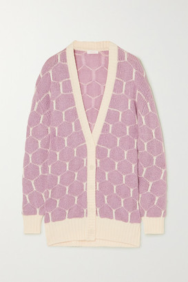 See by Chloe Jacquard-knit Cardigan - Lilac