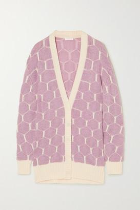 See by Chloe Jacquard-knit Cardigan - Lilac