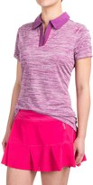 Reebok Space-Dyed Polo Shirt - Short Sleeve (For Women)