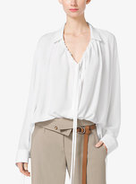 Michael Kors Silk-Georgette Poet Blouse
