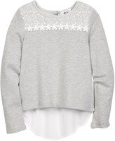 Dex Lace Yoke Hi-Lo Shirt (Big Girls)