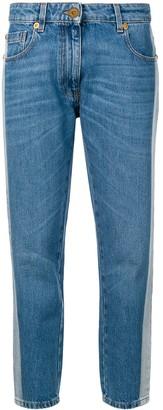 Versace contrast stripe jeans