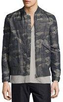 Helmut Lang Jacquard Camo-Print Nylon Jacket, Olive Slate Multi