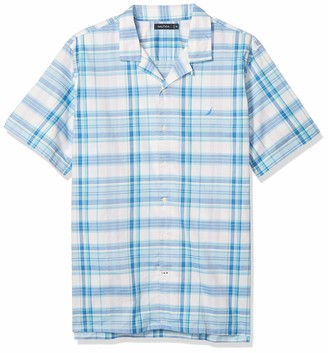 Nautica Men's Big & Tall Plaid Button Down Shirt