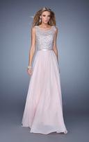 La Femme Gigi GiGi - 21322 Beaded Illusion Scoop Chiffon Dress