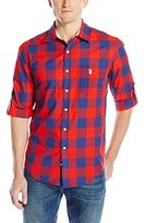U.S. Polo Assn. Men's Long Sleeve Slim Fit Madras Plaid Shirt