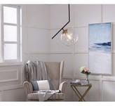 clear Vannessa 1 - Light Single Globe Pendant Wrought Studio Base Finish: Black/Brass, Shade Color