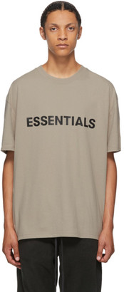 Essentials Taupe Logo T-Shirt