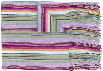 M Missoni Tassel-Edge Striped Scarf