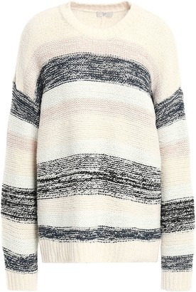 Joie Striped Cotton-blend Sweater