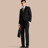 Burberry Classic Fit Wool Part-canvas Suit