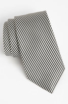 David Donahue Men's Woven Silk Tie