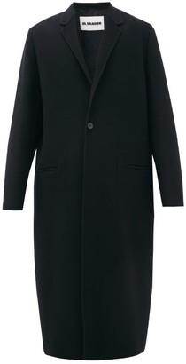 Jil Sander P.m. Single-breasted Cashmere Overcoat - Mens - Black