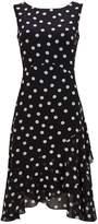 Wallis Black Polka Dot Ruffle Shift Dress