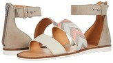 Frye And Co. AND CO. Port 2 Band Sandal (Peach Multi Suede/Multi Arrow Webbing/Waxed Leather) Women's Shoes
