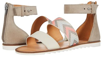 Frye AND CO. Port 2 Band Sandal (Peach Multi Suede/Multi Arrow Webbing/Waxed Leather) Women's Shoes