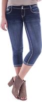 Amethyst Jeans Blue Denim Embellished-Pocket Nessa Capri Jeans - Plus