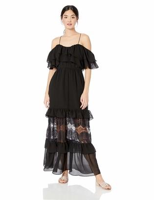 BB Dakota Women's Wish Chiffon a Star Textured Maxi Dress