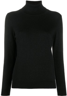N.Peal Cashmere Fine Knit Jumper With Roll Neck
