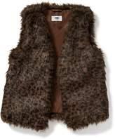 Old Navy Leopard-Print Faux-Fur Vest for Girls