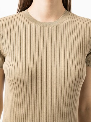 Ralph Lauren Collection Ribbed-Knit Midi Dress