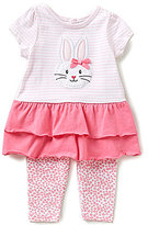 Starting Out Baby Girls 3-24 Months Striped Bunny Tunic & Floral-Print Leggings Set