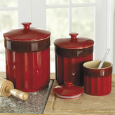 Chefs Stoneware Kitchen Canister Set, 3 pieces