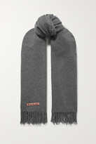 Thumbnail for your product : Acne Studios Oversized Fringed Wool Scarf - Gray