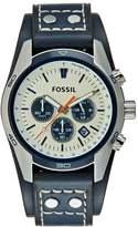 Fossil Coachman Chronograph Watch Blau