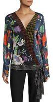 Diane von Furstenberg Cross Over Silk Blouse