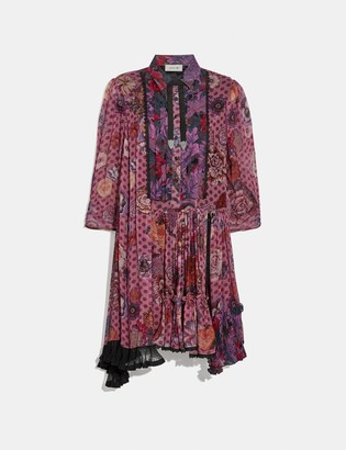 Coach Asymmetrical Dress With Kaffe Fassett Print