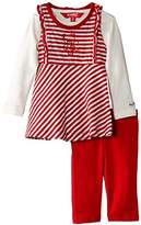 Kanz Unisex Baby T-Shirt 1/1 Sleeves Dress Trousers Striped Clothing Set