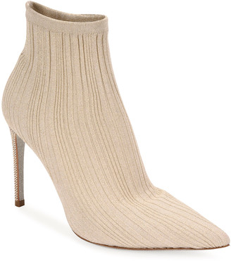 Rene Caovilla Knit Sock Booties