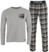 Firetrap Long Sleeve Checked Pyjama Set Mens