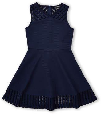 Zunie Girls 7-16) Mesh Texture Skater Dress