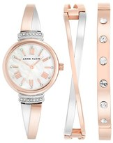 Anne Klein Women's Round Watch & Bangle Set, 26Mm
