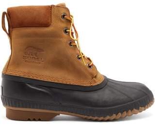 Sorel Cheyanne Ii Waterproof Nubuck Boots - Mens - Black Brown